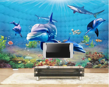 beibehang New quality wallpaper anxious little mobilization submarine world background picture psd papel de parede 3d