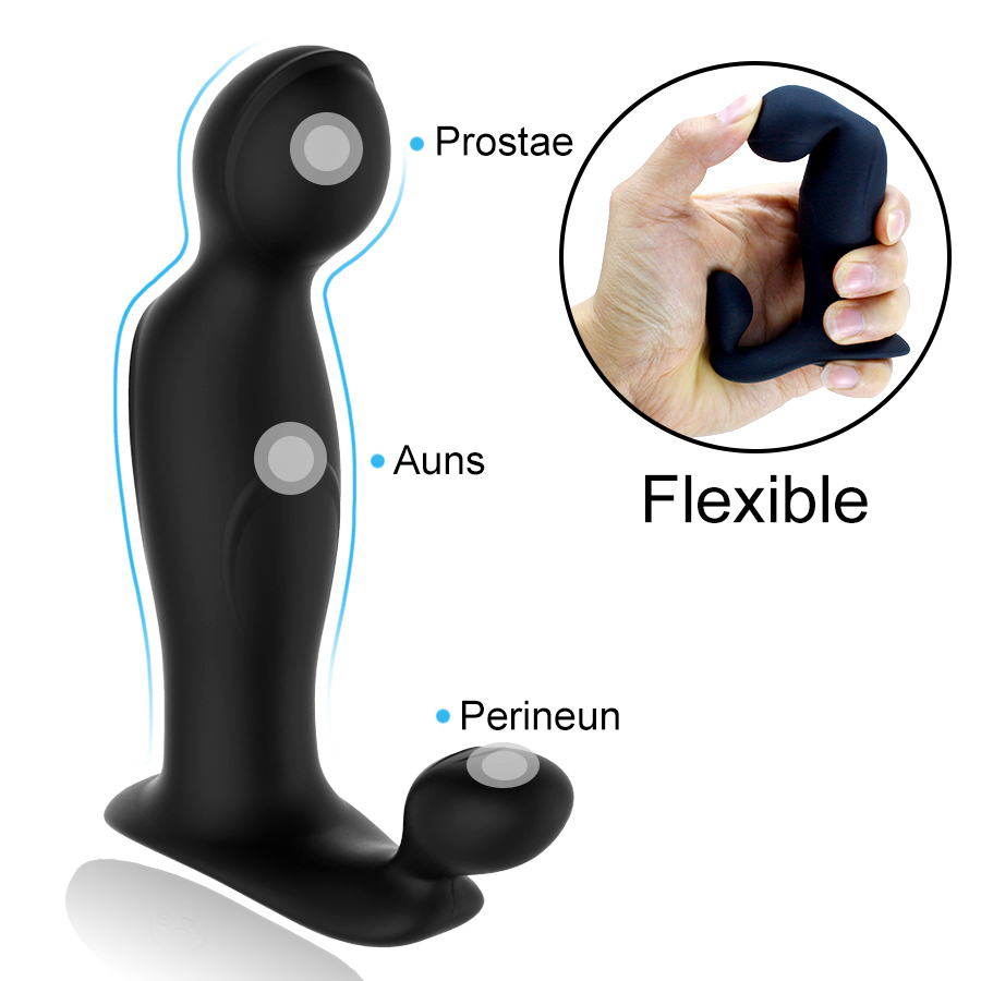 FLXUR Prostate Massage Anal Vibrator Sex Toys for Men USB Rechargeable Silicone Butt Plug G spot Male Masturbator Adult Anal Toy in Anal Plug from Beauty Health