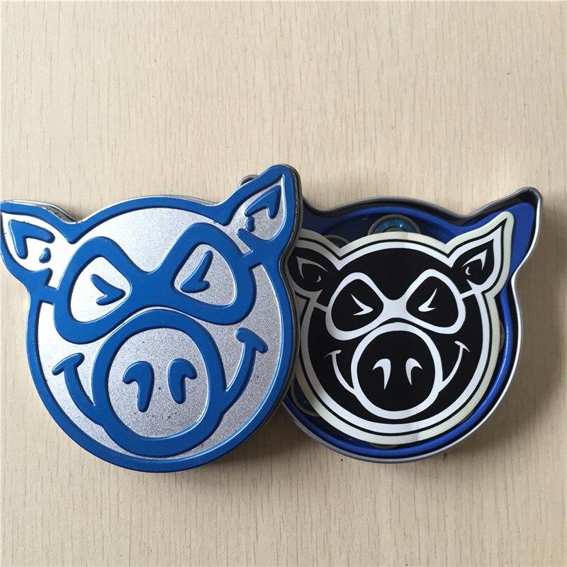 8PCS Pig Head Skateboard Bearings Chrome Steel Ball ABEC-3/ABEC-5 BLACK OPS Skateboard Bearings With 4 Spacers