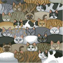 JCS Viele faule Katzen Gezählt Kreuzstich 14CT DMC Kreuzstich Sets DIY Kreuzstich Kits Stickerei Home Decor Hand