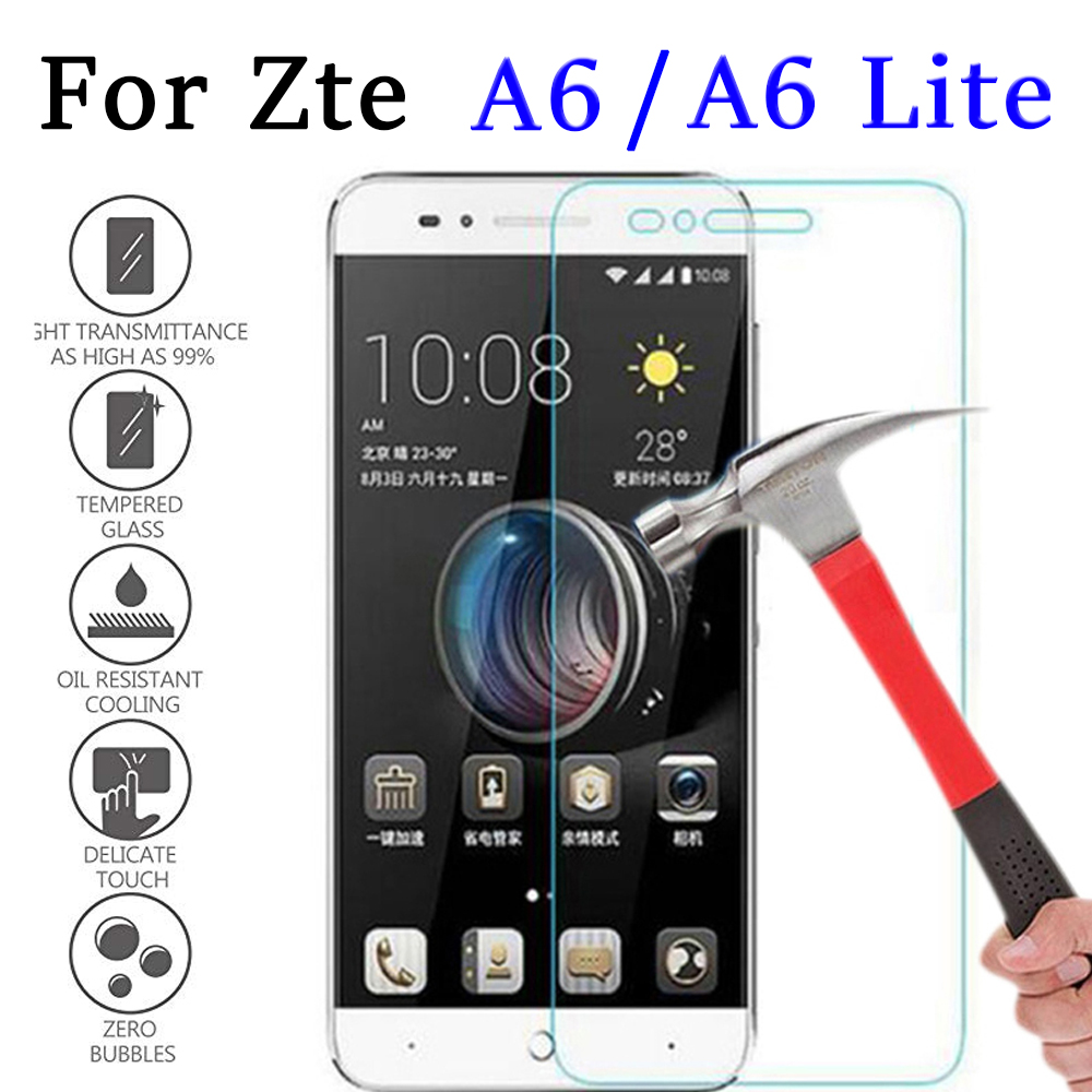 Protective Glass On For ZTE Blade A6 A 6 Tempered Glas Toughned  Ztea6 Protection Phone Protect Film 2.5D 9H Screen Protector
