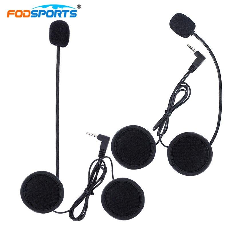 2 pc Fodsports V6 Pro V4 Bluetooth Intercom Earphone Motorcycle Bluetooth Helmet Interphone Hard Tube Noise Reduction