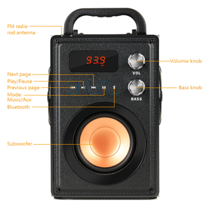 Image 3 - TOPROAD 20W Big Power Bluetooth Speaker Portable Stereo Bass Wireless Party Speakers with Remote Control FM Radio Mic TF AUX USB