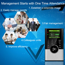 Biometric Time Attendance System TCPIP USB RFID Card Punch EmployeeTime Clock Office Attendance Recorder  Access Control System цена