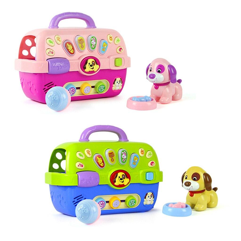 Jouet de transporteur de chiot Musical pour bébé en bas âge jouet éducatif préscolaire jouets électroniques avec lumières et sons soins pour animaux de compagnie