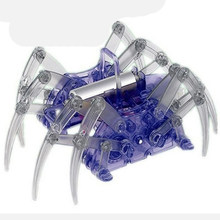 1pc Hot Sale Vreative Educational Creative High-tech Small Experiment Set Electric Solar DIY Puzzle Spider Robot Kids Toys(China)
