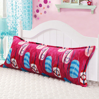 The new winter Farley velvet double pillowcase Coral RongChang plush 1.2 1.5 meters long pillow pillowcase couples free shipping