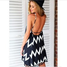 Boho Backless Summer Tassel Dress