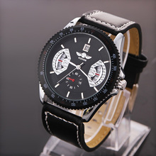 Men's New Fashion Sports Leather Band Date Automatic Mechanical Analog Wrist Watch Men Steampunk Watches LXH