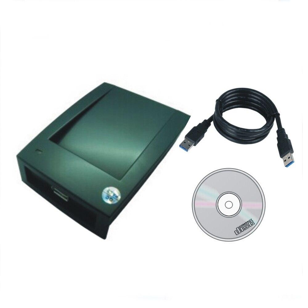 Le plus simple T5577/EM4305 125 KHZ carte copieur/Duplication USB port Éviter de conduire Anglais logiciel + 5 pcs cartes