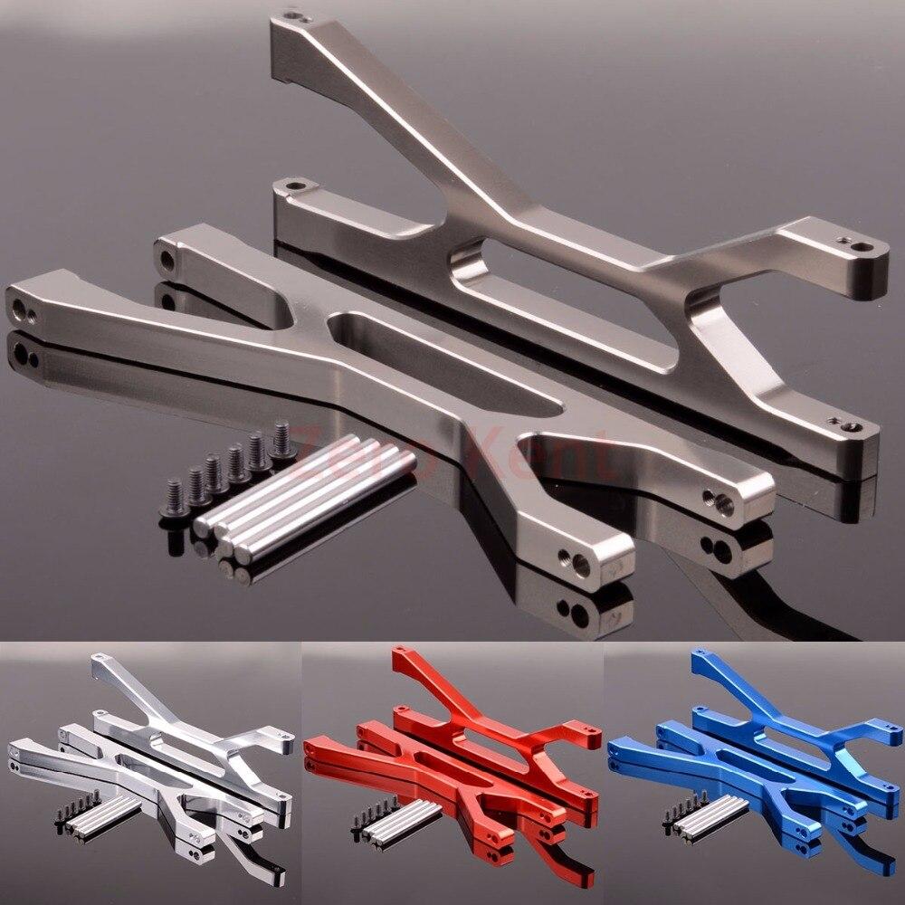 2 p braços de suspensão de alumínio superior (f/r) 7729 para rc 1/5 modelo x-maxx 77076-4