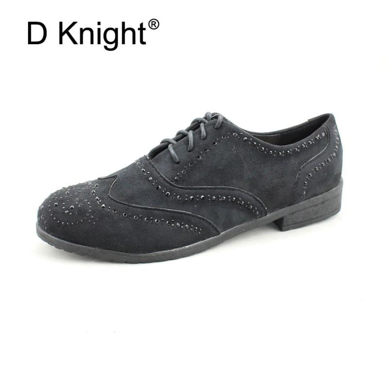 Lace Up Brogue Shoes Flat Shoes