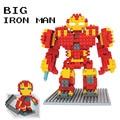 Grande homem de ferro figuras de ação dos desenhos animados personagens divertidos diy mini blocos montados brinquedos modelo melhor presente para as crianças