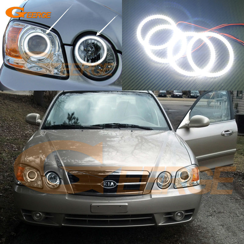 For Kia Optima MAGENTIS 2003 2004 2005 2006 Excellent angel eyes Ultra bright illumination smd led Angel Eyes Halo Ring kit авита ру продать камаз зерновоз 2003 2005 года