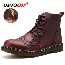Dr модные мужские Зимние непромокаемые ботинки из воловьей кожи, кожаные  ботинки, Мужская зимняя 9dc85c47190
