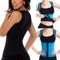 Mulheres emagrecimento colete de neoprene sauna suor camisa trainer cintura tummy controle body shapers para perda de peso queimador de gordura
