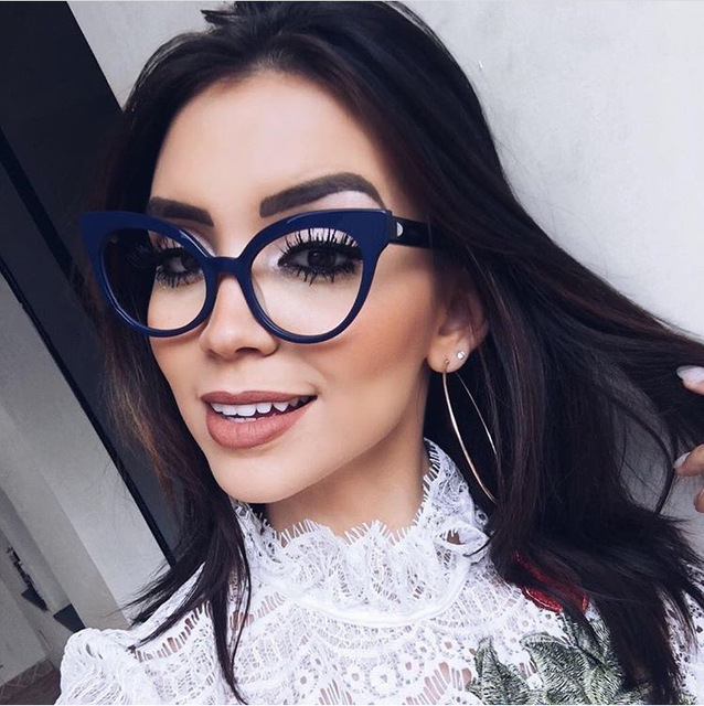 38cf583ab3 BOYEDA Vintage Cat Eye Prescription Glasses Retro Plastic Frame for Women  Glasses Fashion Female Eyeglasses Clear
