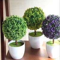 2016 Nova simulação vasos de plantas árvores envasadas Escritório decoração Simples e elegante floral bola colocar Cor enviados aleatoriamente