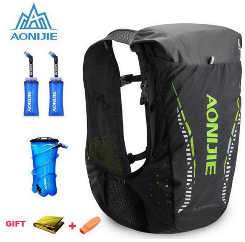 AONIJIE 18L Running Marathon Race Outdoor Lightweight Hydration Backpack Rucksack Bag Vest Hiking Camping For 2L Water Bladder