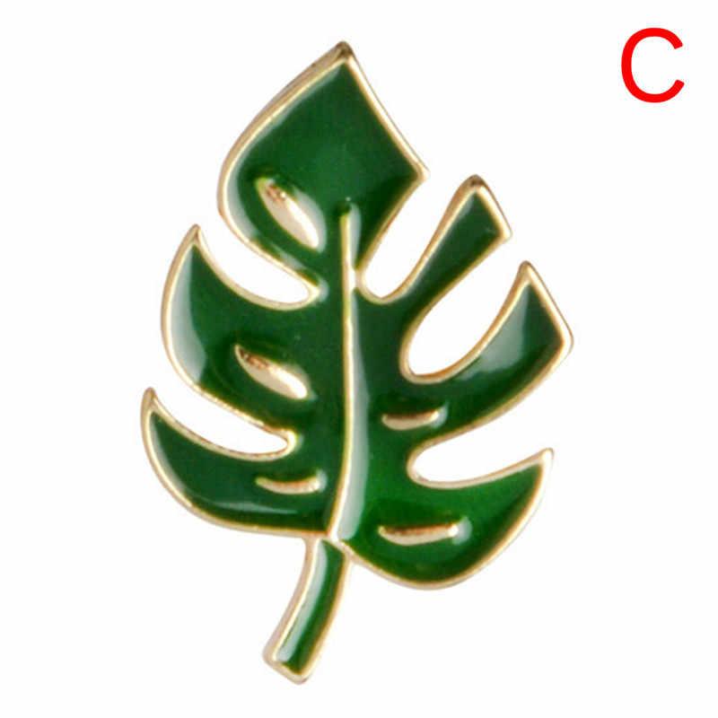 1PC palmowe liście kaktusa roślina drzewo naturalne przypinka broszka emaliowana obroża szpilki 2018 nowy kaktus