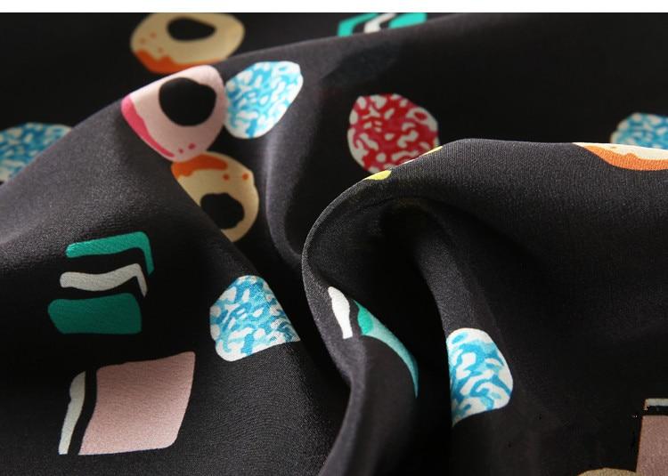 V La Oficina Impresión Sin Camisa Mujeres Natural Desgaste Seda Casual Geométrica Las Mangas Blusa Blusas Cuello De Real Elegante Verano wAvPYY