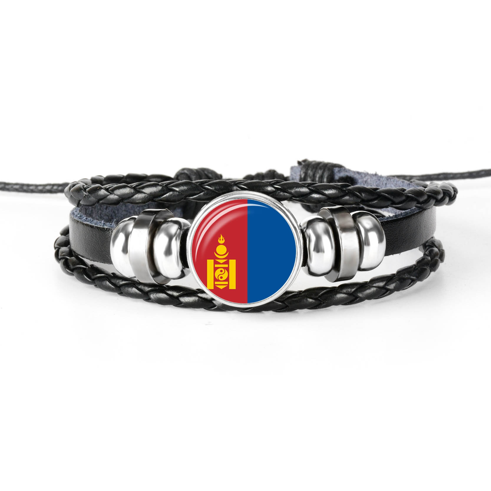 MONGOLIA JAPAN NORTH KORE SOUTH KOREA East Asia National Flag Bracelet image