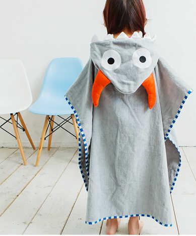 Одежда высшего качества хлопка с купальный Халат с капюшоном коричневый Кофе Сова пляж банное полотенце/серый Bull бык рогом моделирование халат для спа