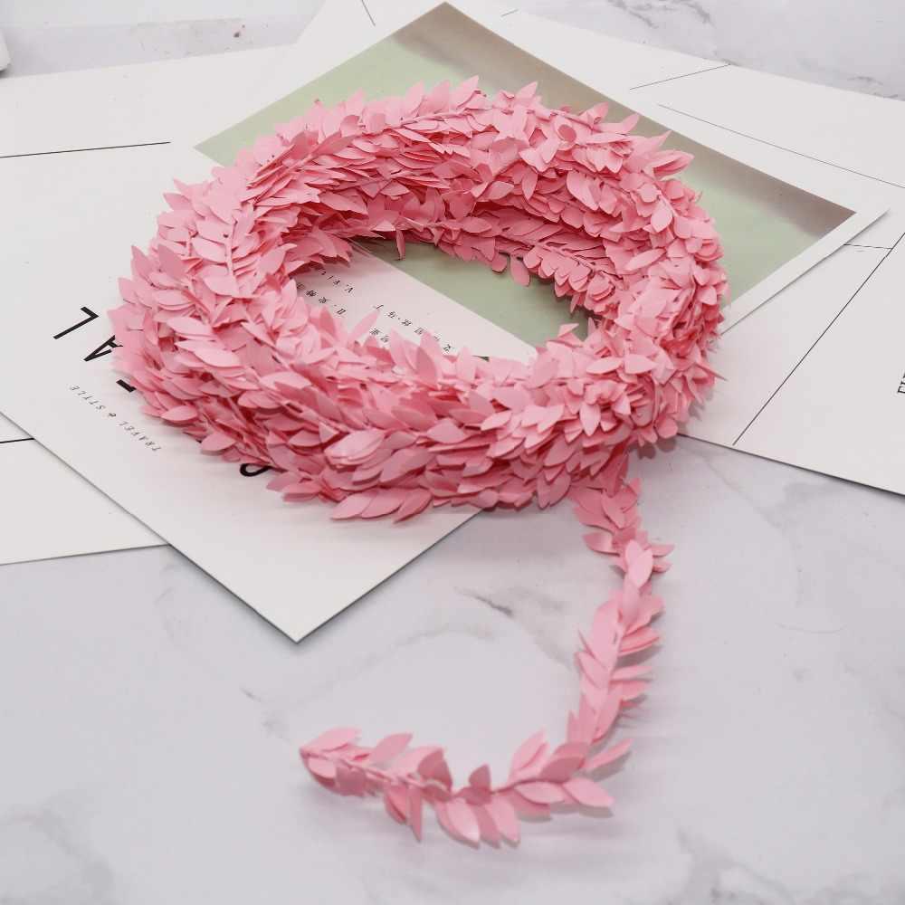 100 Cm/lot Sutra Hijau Daun Palsu Besi Plastik Rotan Karangan Bunga Natal Dekorasi untuk Rumah Pernikahan Diy Garland Hadiah Bunga Buatan