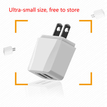 цена на 5V 2.1A Smart Travel Dual USB Charger Adapter Wall Portable US Plug Mobile Phone Charger for iPhone Samsung Xiaomi Tablet