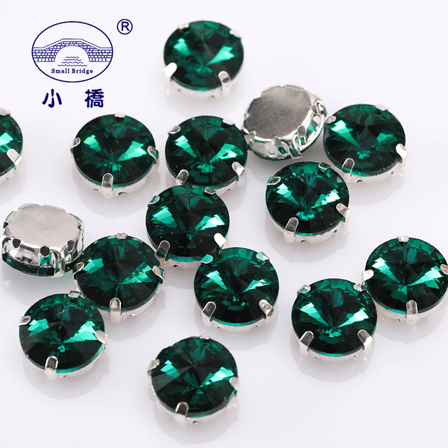 67d34cf205 US $1.2 35% OFF|Glitter Round Crystal Sewing Rhinestones Glass Stones For  Clothes Decoration Loose Flatback Rhinestones With Claw 10PCS S062-in ...