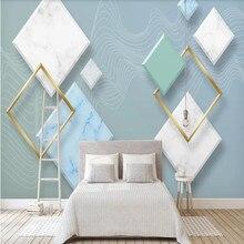 Nordic modern minimalist three-dimensional abstract geometric living room TV background wall