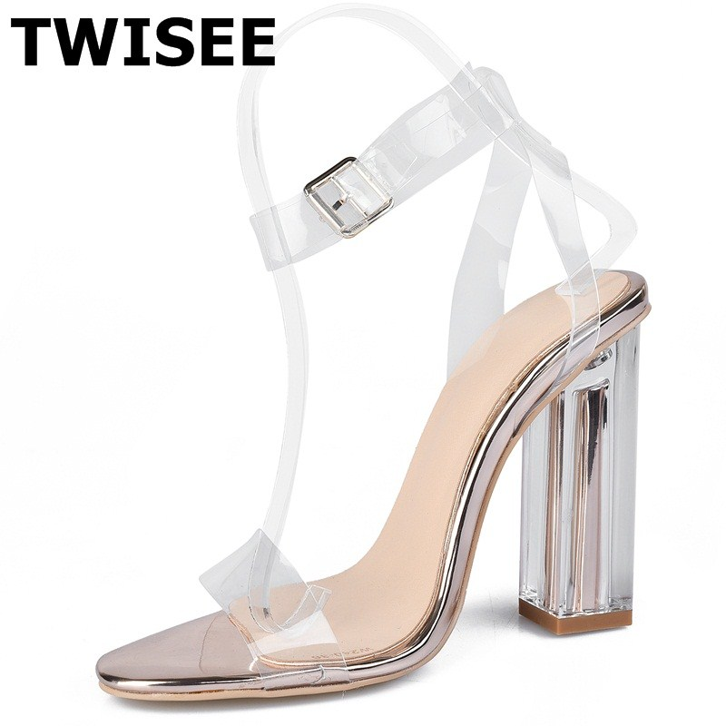 Buckle Strap summer sandals ladies women shoes sandals Comfortable Rubber Super High 10 cm Square heel woman casual shoes xiaying smile summer new woman sandals platform women pumps buckle strap high square heel fashion casual flock lady women shoes