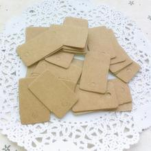 Brown Kraft Paper Rectangular Tags 100 pcs/Set
