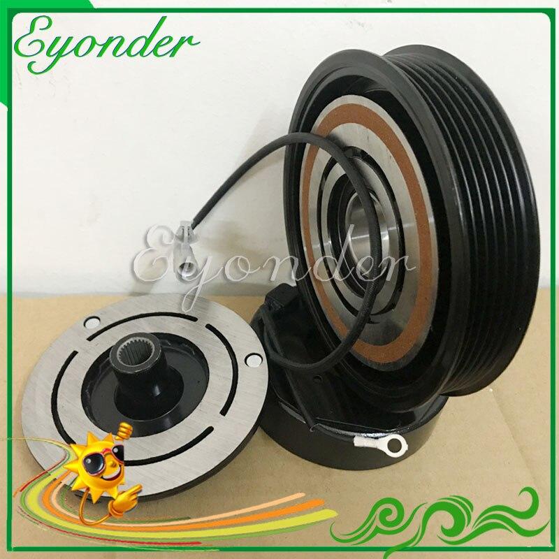AC/C кондиционером компрессор магнитные электромагнитный клатч PV6 для CHRYSLER VOYAGER DODGE CARAVAN 2.4L L4 447220-3445