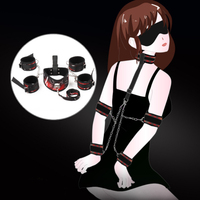 SM Sex Bondage Restraint Kit Collar Mask Adult Games for Couples Fetish Erotic Accessories for Collar Mouth Gag Handcuffs