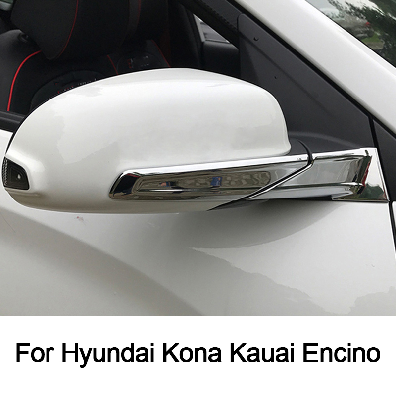 Tomefon For Hyundai Kona Encino 2018 2019 Abs Chrome Front: For Hyundai Kona Kauai Encino 2018 2019 Car Rear View