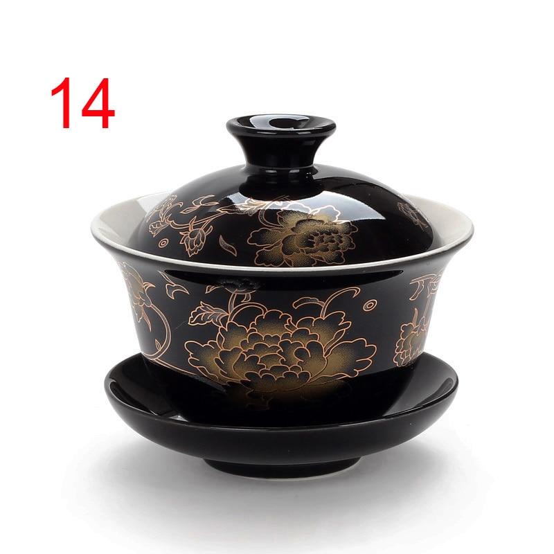 Traditional China Bone Gaiwan Bowls 5