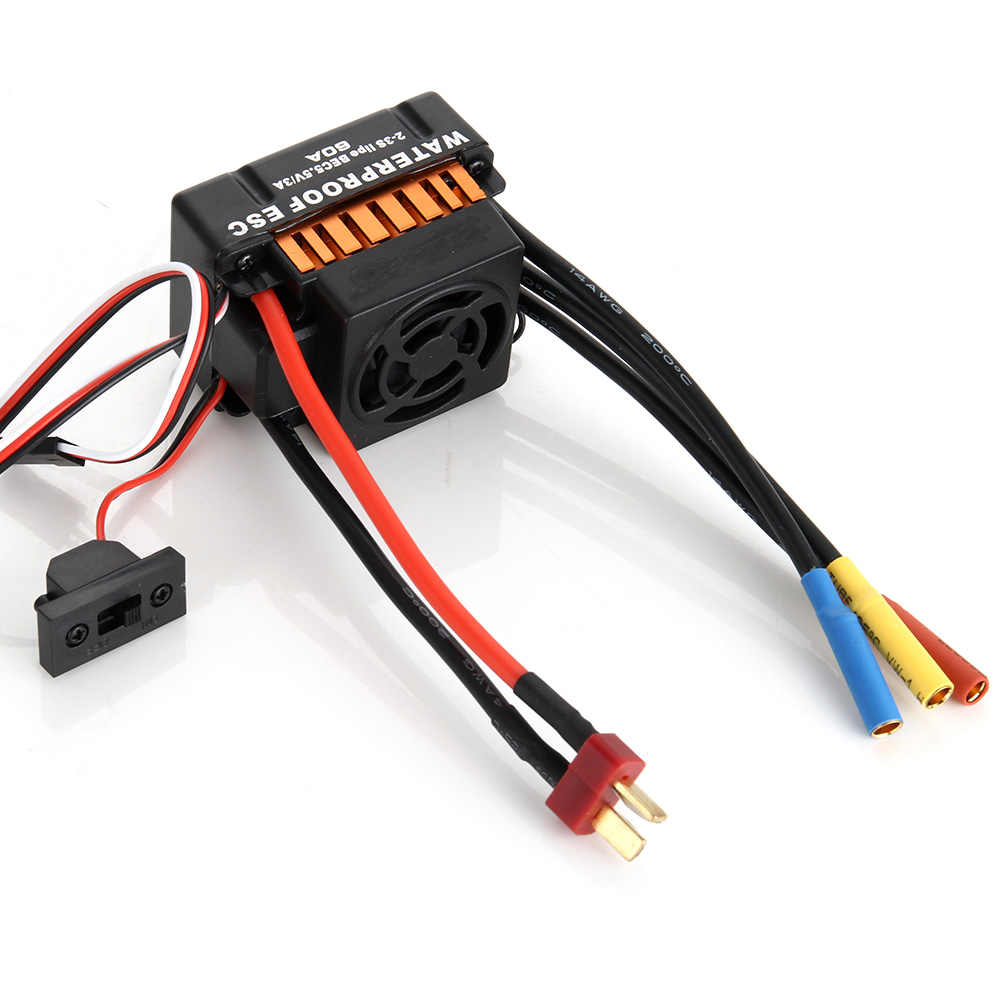 Waterproof 60A ESC + F540 13T 3000KV 4 Poles Brushless Motor Fits For 1/10 Drift RC Car Racing YH-17 4set lot universal rc quadcopter part kit 1045 propeller 1pair hp 30a brushless esc a2212 1000kv outrunner brushless motor