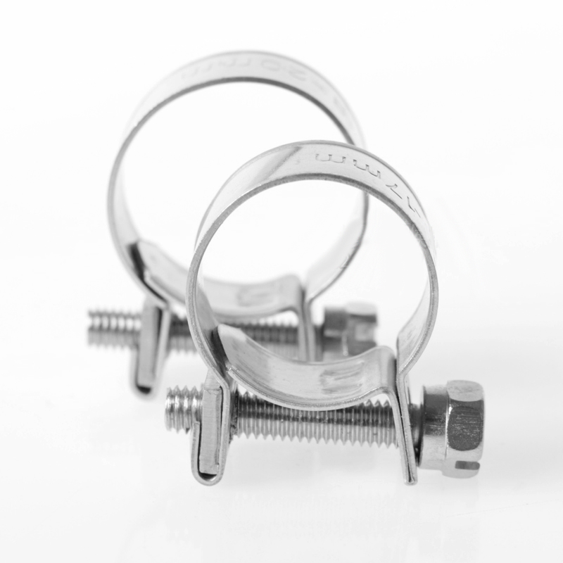 4pcs Stainless Steel 304 Mini Strengthen Hose Clamp Circular Pipe