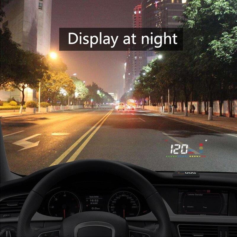 Geyiren A200 hud автомобиль универсальный head up display Спидометр obd2 температура воды проекции на лобовое стекло для автомобилей hud 2018
