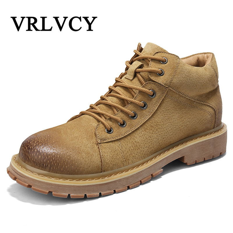 2018 New Brand Men Boots Spring/Autumn Waterproof Ankle Boots Man Fashion Casual Tooling shoes High Quality Shoes 2018 fashion new men ankle martin boots basic high quality real genuine leather spring autumn luxury brand man black shoes 38 44