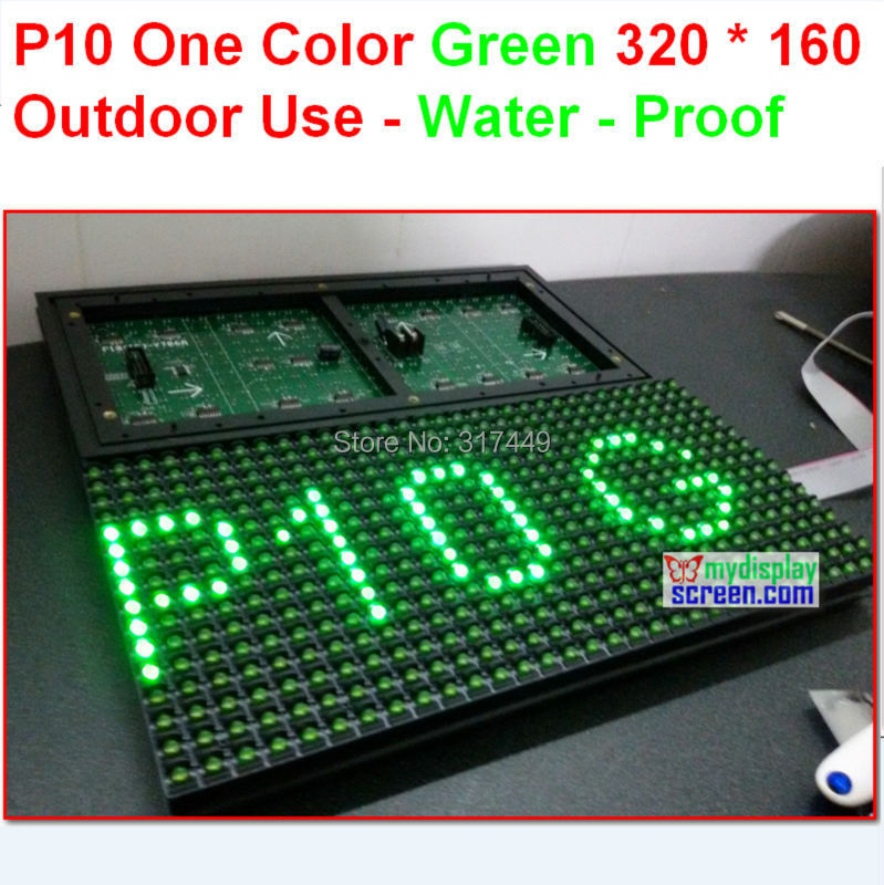 <font><b>p10</b></font> one color <font><b>outdoor</b></font> green panel,water proof,quality a 320*160 32*16 hub12 monochrome <font><b>outdoor</b></font> <font><b>p10</b></font> <font><b>led</b></font> sign <font><b>module</b></font> image