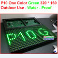 P10 cor verde ao ar livre painel, À prova de água, Qualidade 320 * 160 32 * 16 hub12 preto ao ar livre p10 módulo de led sinal
