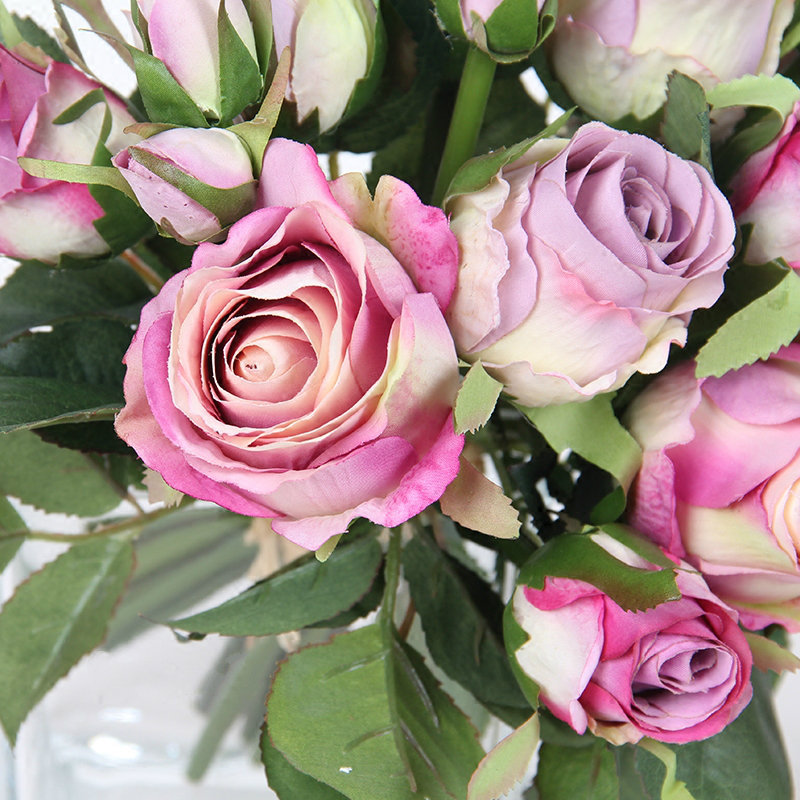 2019 Beautiful Rose Peony Artificial Silk Flowers Small bouquet Home Party Spring Wedding Decoration Fake Flower