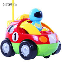 MUQGEW New Arrival Kids Toys Remoto Control Cars Lovely RC Cartoon Race Car With Music And
