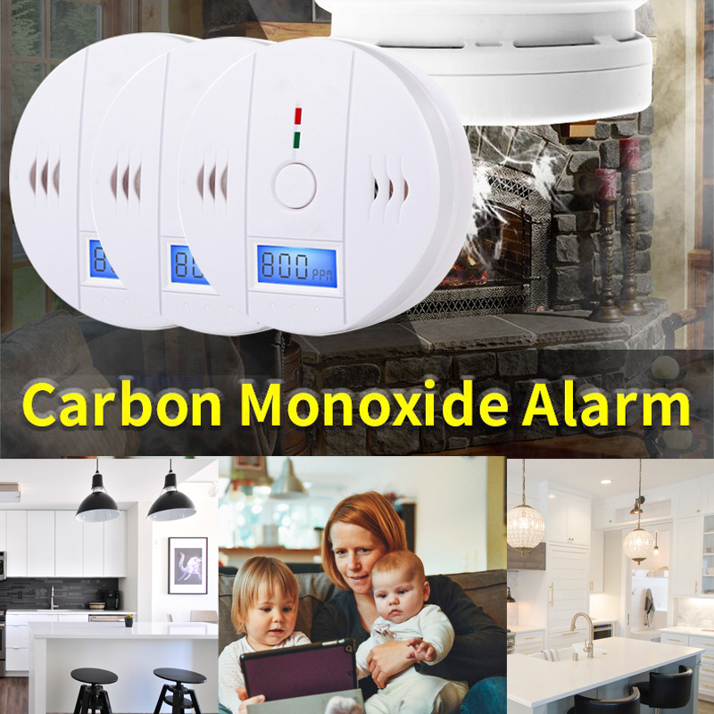 Contemplative 2019 3pcs Co Gas Sensor Detector Carbon Monoxide Poisoning Alarm Lcd Photoelectric Independent 85db Warning High Sensitive Carbon Monoxide Detectors