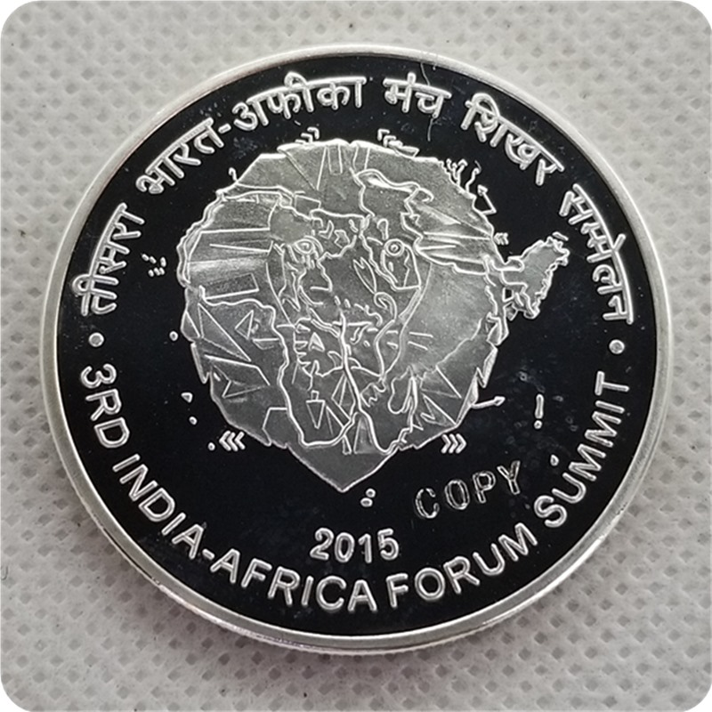 2015 india 500 Rupees (3rd India - Africa Forum Summit) COPY COIN commemorative coins-replica coins medal coins collectibles image