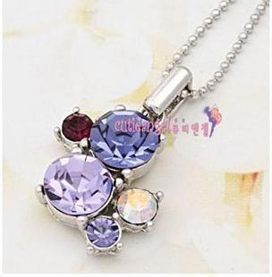 Star style song unique purple  necklace 7244 accessories