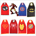 Kids Superhero Capes Superman Spiderman Cosplay party Best gift for Children Halloween Christmas Costume Baby Cloak