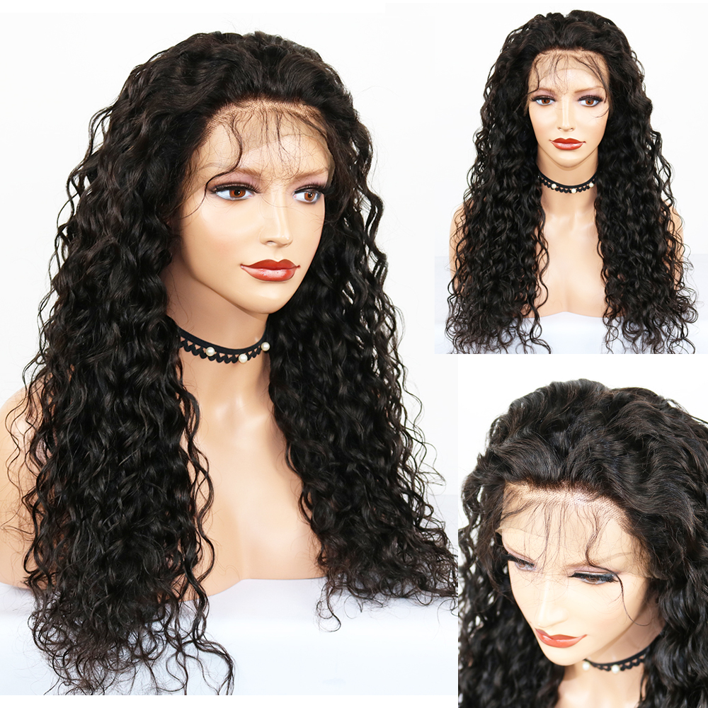 Eversilky Brazilian Water Wave Human Hair Wig 360 Lace Frontal Human Remy Wigs With Baby Hair Pre Plucked For Black Women